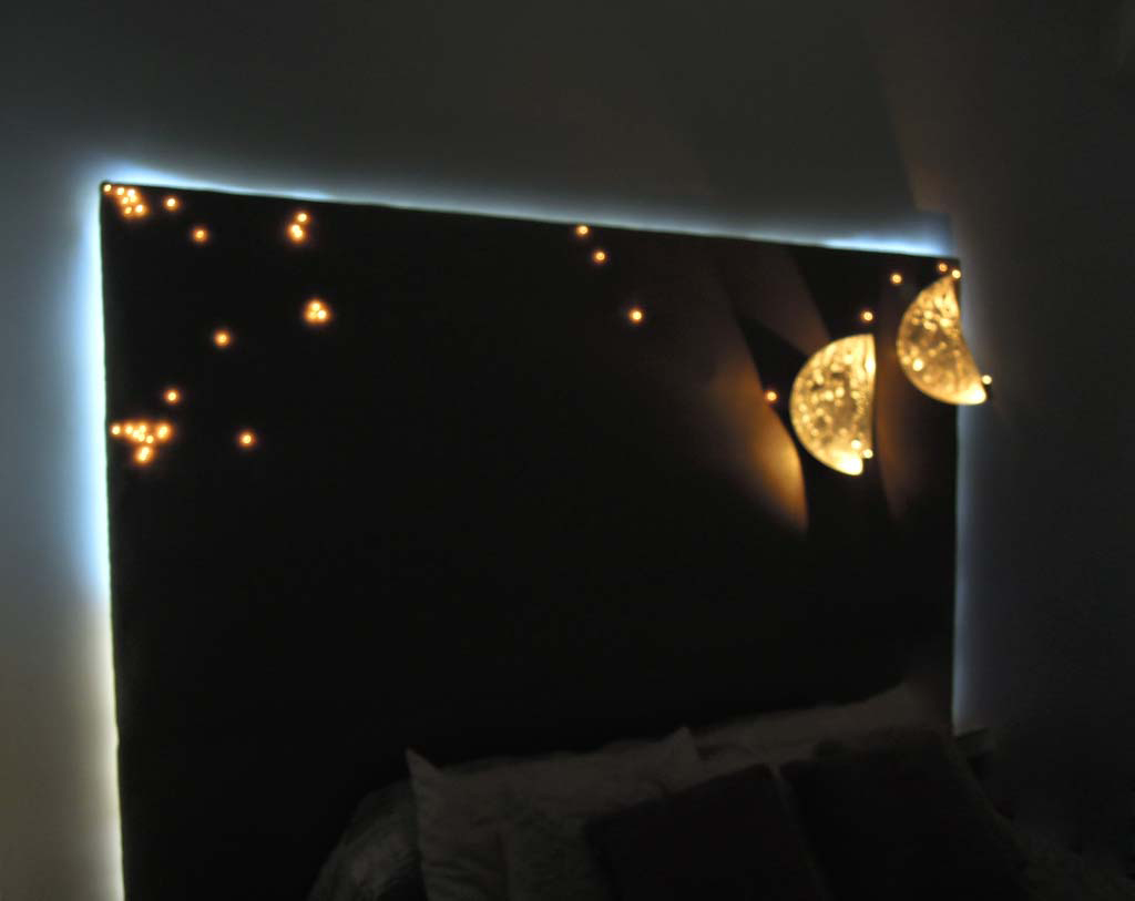 t te de lit lumineuse headboard light t te de lit avec leds isa moss. Black Bedroom Furniture Sets. Home Design Ideas